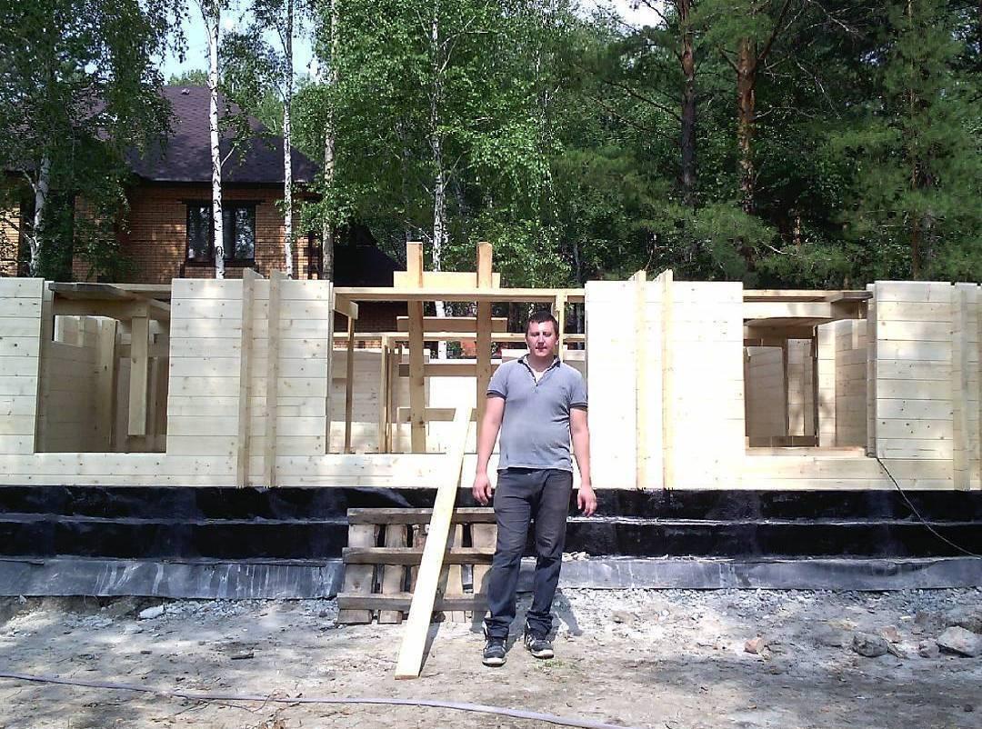 Строительство дома из клееного бруса Веванта в Тюмени