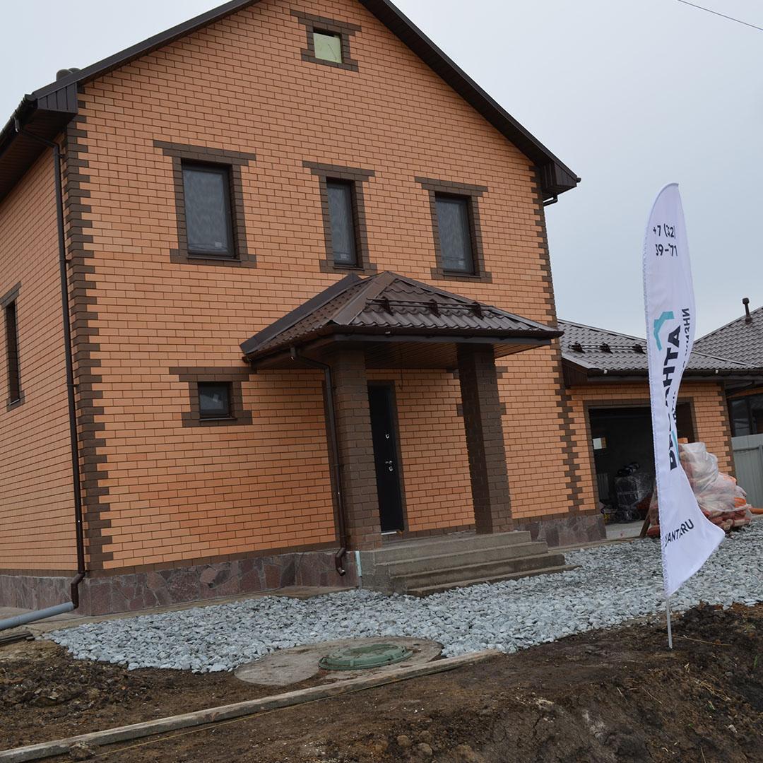 """Дом по проекту """"Анжелика с гаражом"""" построен под ключ"""