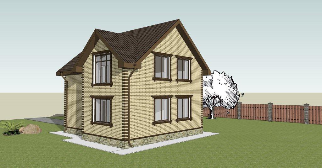 проекты домов с площадью от 80 до 110 кв.м. в Тюмени