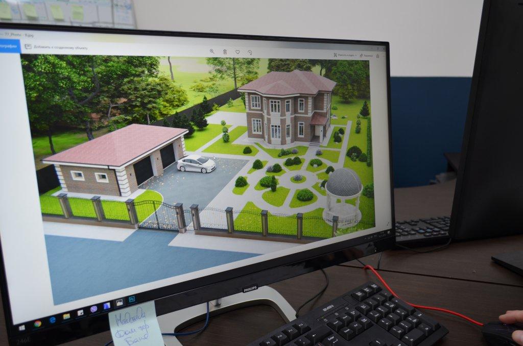 Проект на мониторе у архитектора