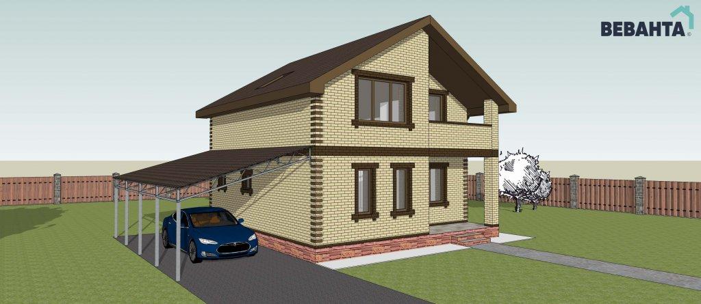 проекты домов с площадью от 110 до 150 кв. м. в Тюмени