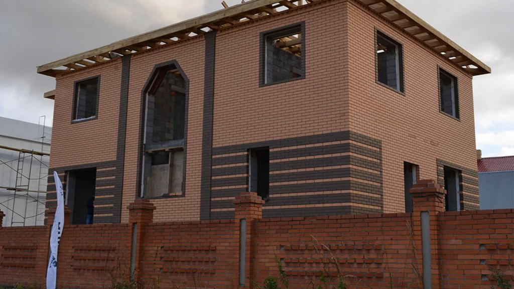 """Строительство дома с цокольным этажом по проекту """"Виктория""""в Тюмени"""