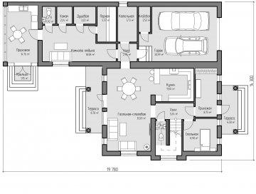 Планировка первого этажа проекта Елисейские поля
