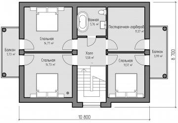 Планировка второго этажа проекта Елисейские поля от компании Веванта