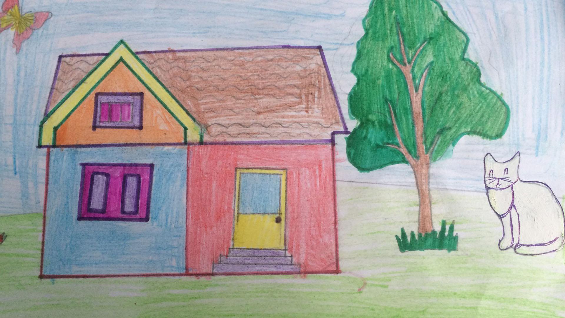 Картинка на тему мой дом для детей