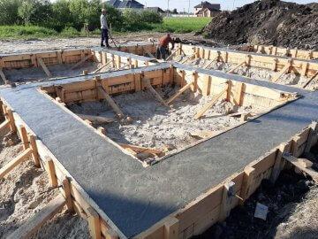 Завершение строительства ленточного фундамента