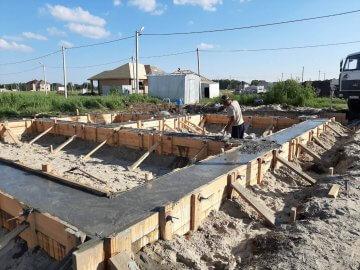 Строительство ленточного фундамент под дом