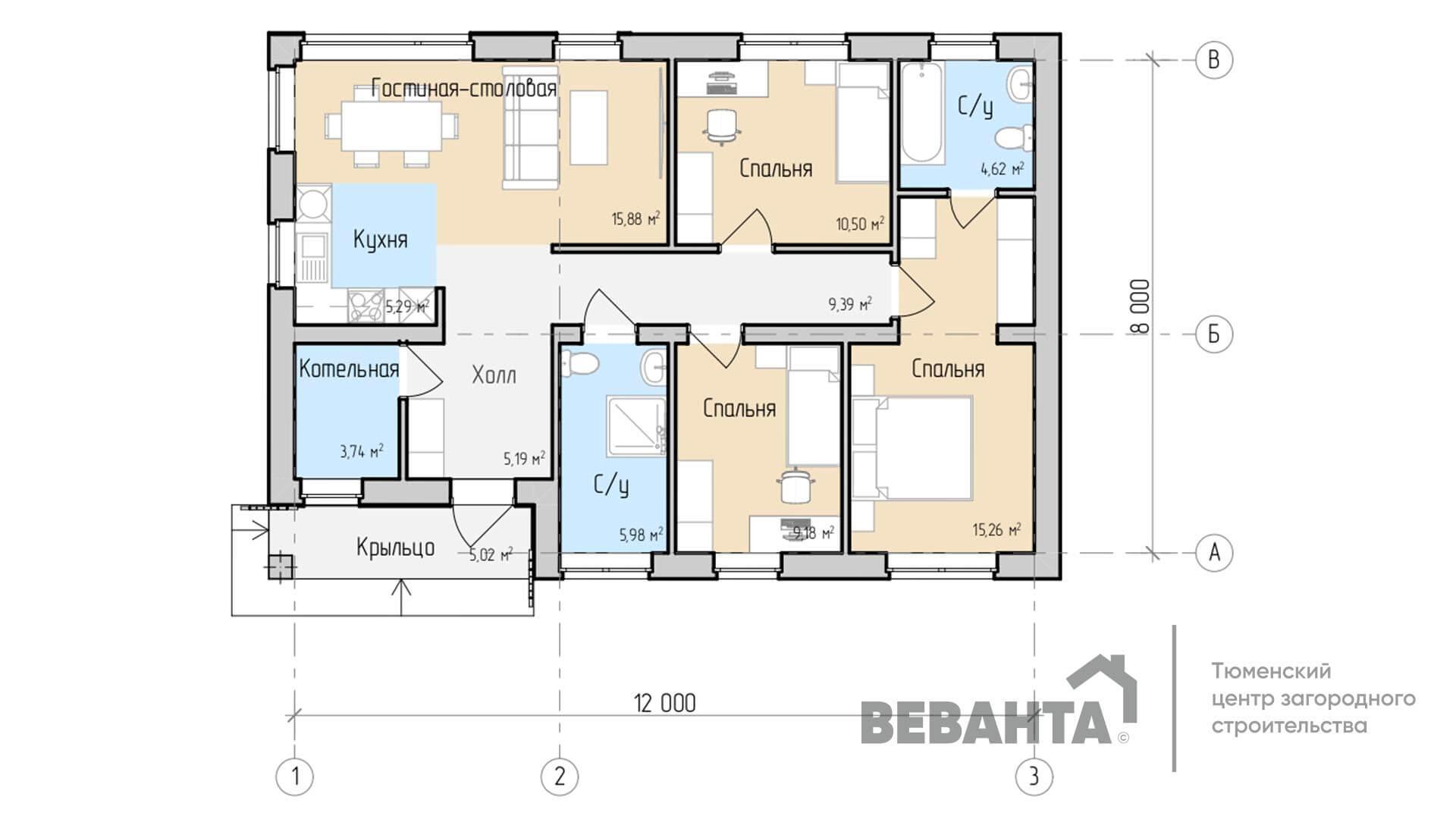 Планировка дома Никита